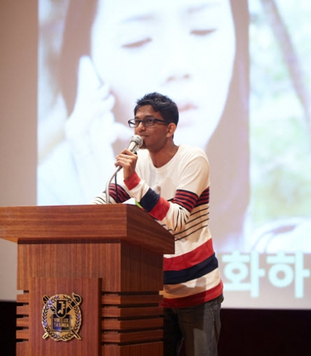 Foreign Students Compete in On-campus Korean Speech Contes